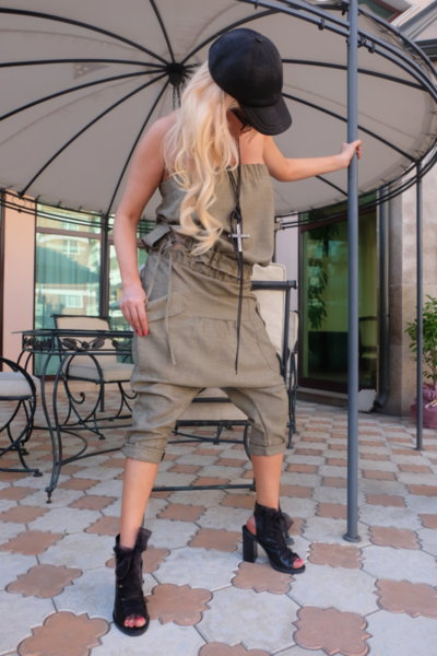 Панталон тип потур в натурален цвят
